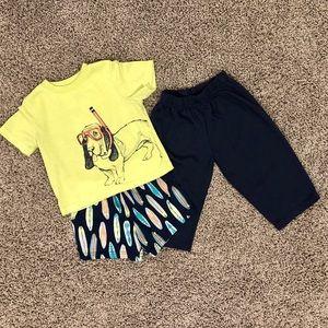5/$25 Boys Carter's 3 piece pajamas set